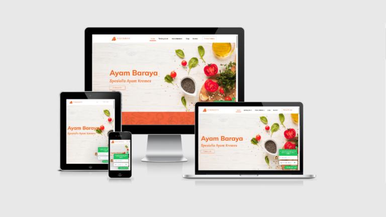 Ayam Baraya Website Restoran